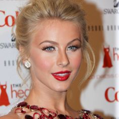 Julianna Hough- Love her look with her hair + red lipstick.