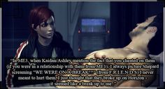Spectre Confessions // srsly kaidan