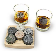 Granite stones, so you can have your whiskey on the rocks. | 26 Essentials Every Whiskey Lover Should Own