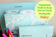 Organizing Tools for