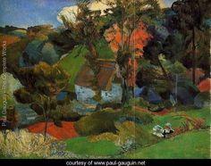 The Aven Running Through Pont Aven - Paul Gauguin - www.paul-gauguin.net