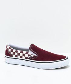 5fd34de2ae67d4 Vans Slip-On Pro Port Royal Red   White Checkered Skate Shoes