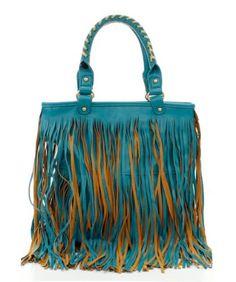 Faux Leather Fringe Fashion Handbag - http://handbagscouture.net/brands/private-label/faux-leather-fringe-fashion-handbag/