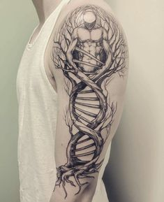 DNA tree tattoo