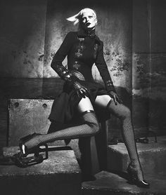 Elza Luijendijk is Gothic Glam for Versaces Fall 2012 Campaign by Mert & Marcus