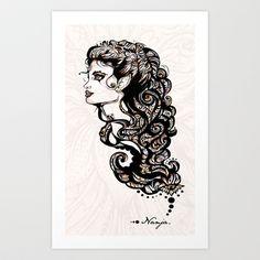 """""""Nanja"""" (Work in Progress)  Art Print by ivette - $12.48"""