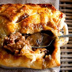 Steak & Mushroom Pot Pies - this recipe uses puff pastry on top but ...