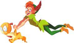 Peter Pan and Scraggy. | When 10 Disney Characters Met Pokémon