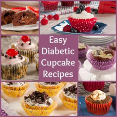 We love cupcakes! These scrumptiously satisfying sweets are just the right size for anyone following a diabetic diet. So, the next time you're craving something sweet, be sure to try one of our great diabetic cupcake recipes. You won't be disappointed!