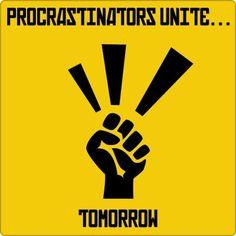 Procrastinação...