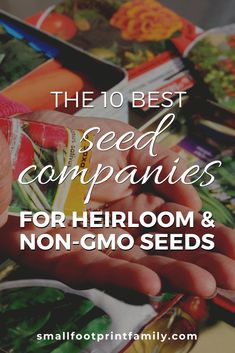 Each of these socially responsible seed companies have taken the Safe Seed Pledge against GMOs, and provide heirloom and open-pollinated seeds for your garden.  #garden #gardening #organicgarden #permaculture #homesteading #urbangarden #nogmos #gmofree