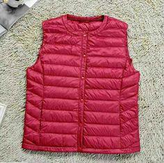 Ziker Brand Winter Women Down Vest Solid Slim Warm Down Vest Wear Inside Liner Down Coats