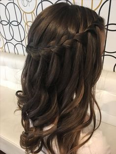 Waterfall Braids With Curls #braids_tutorial