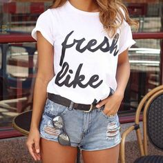 Fresh Like Tshirt Size:S M L XL To place your order log on to our website or DM us.