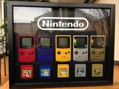 Gameboy/Pokemon display for girlfriend's Christmas gift