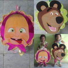 Resultado de imagen para piñatas masha y el oso