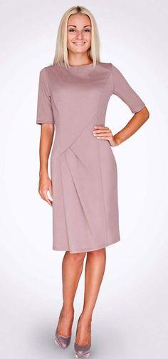 Выкройка «платье футляр с подрезом» 42-52