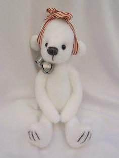 Snowdrop-a cute 9 inch bear-handmade with love.x. by Kazziesbruins