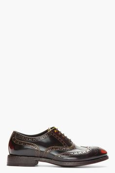 PAUL SMITH // Yellow & Red Brushed Leather Wingtip Chuck Brogues