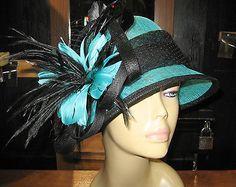 kentucky Derby hat wide Brim / turquoise