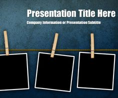 Peg Grunge PowerPoint template is another free background template for…