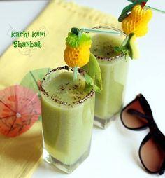 Kachi Keri Sharbat Recipe, Dry Mango Sharbat for Summer. A refreshing summer drink to prevent heat stroke made from raw mango, mint, rock salt.
