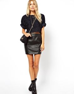 ASOS Mini Skirt in Leather Look £25