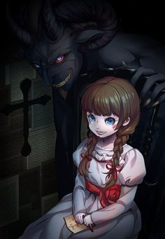 Annabelle - The Conjuring - Image - Zerochan Anime Image Board Horror Movies Funny, Scary Movies, Horror Icons, Horror Art, Arte Copic, Scary Movie Characters, Dreamland, Slasher Movies, Comedy Movies