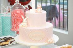 Semma's Birthday cake.  Baby Girl Birthday Cake.