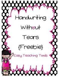 Easy Teaching Tools: Handwriting without Tears (also links to TPT site where they have cute themed sheets) Kindergarten Handwriting, Handwriting Activities, Handwriting Practice, Kindergarten Writing, Teaching Writing, Teaching Tools, Literacy, Free Handwriting, Teaching Handwriting