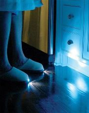 The slippers with the led light