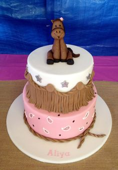 Cow girl party cake