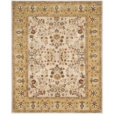 Safavieh Hand-hooked Total Perform Ivory/ Gold Acrylic Rug (8' x 10') (TLP721A-8), Size 8' x 10'