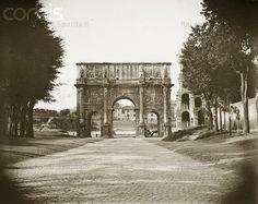 Arco di Costantino. Via dei Trionfi (attuale via di San Gregorio) Anno: 1894