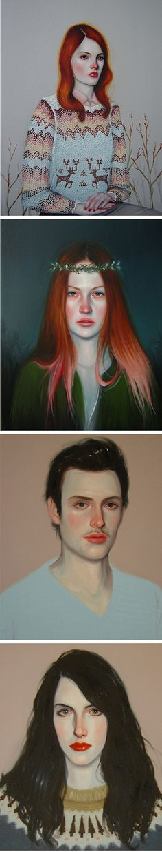 Kris Knight ~ I pinned this because the second portrait looks like my mom when she was a teen. - Bacon N. Megs