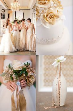 Beige Beauties: Classic and Elegant Wedding Ideas - www.theperfectpalette.com - Color Ideas for Weddings + Parties