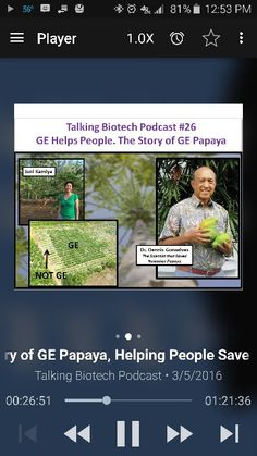 Biotech The story of how genetic engineering saved the Hawaiianpapaya industrygets lost in the discussion of agronomic crop uses of the technology. This story is important because this is not just a story of technology. It is the story of people.Joni Kamiya tells the story of growing up on her family's farm and the changes that came with the virus and how the genetically engineered saved production of this traditional crop for their family.Follow Joni on Twitter at @HIFarmersDtr, and her…