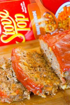 Meatloaf with Stuffing is an easy ground beef dinner recipe the whole family will love. This delicious meatloaf is made with Stove Top Stuffing Mix. #stovetopmeatloaf