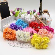 2015 6 шт./лот 3 см искусственный пена пентагон букет роз цветы для свадебных автомобилей украшения дома скрапбукинга подарок поддельные цветок -