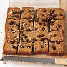 Blondies with Chocolate Chips and Walnuts Recipe - Delish.com