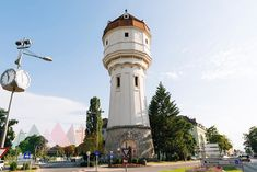 Austria, Wiener Neustadt, water tower at Suedtiroler Platz Water Tower, Cn Tower, Austria, Building, Travel, Viajes, Buildings, Traveling, Trips