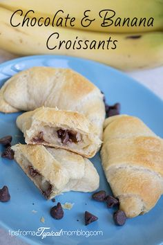 These Chocolate and Banana Croissant Rolls are so easy to make and the perfect after school snack. Perfectly sweet to satisfy that sweet tooth.
