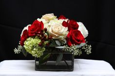 red, black and gold wedding centerpieces | Photo Gallery - Christmas Wedding Reception Centerpiece Photo