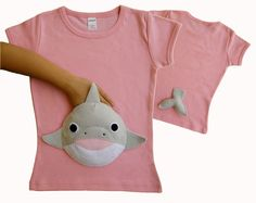dolphin shirt, girls shirts, girls tshirts,cute girls tops by MyPalPockets