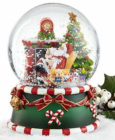 Holiday Lane Snow Globe, Cookies for Santa