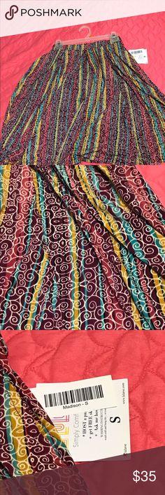 LuLaRoe Madison small Beautiful LuLaRoe Madison small with pockets LuLaRoe Dresses