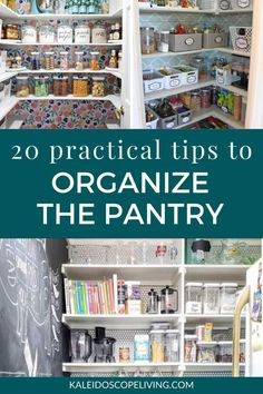 Determined to get your pantry organized? These brilliant pantry organization ideas will show you how to organize a pantry like a pro, no matter the size or shape! Deep Pantry Organization, Kitchen Pantry Design, Pantry Shelving, Kitchen Organization Pantry, Organization Ideas, Organized Pantry, Pantry Ideas, Organizing Tips, Storage Ideas