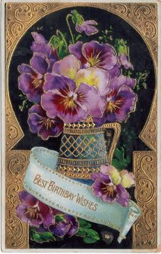 ❥ pretty vintage birthday card