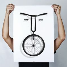 bikemoji posters by thomas yang caricaturize bike-buffs with cycle parts
