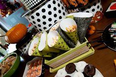 Halloween Food - Maple Chipotle Popcorn Cones by Naughty Secretary Club, via Flickr